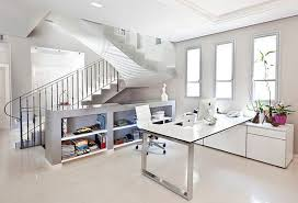 gorgeous home office interior ideas to celebrate the spring season bright white home office beautiful bright office