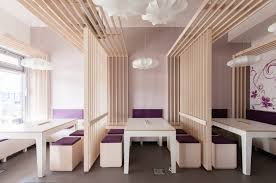 plywood decor restaurant interior design ideas features clean white interior decoration and in line plywood ceiling themes