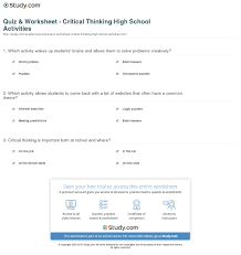 Critical thinking activities adults   Custom Research Papers for       Free Activities that Develop Abstract Thinking and Critical Reasoning
