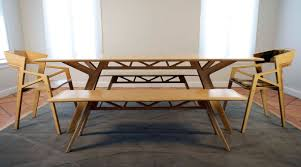 dining room bench seating: modern dining room bench totally made of wood full size
