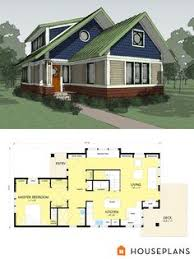 Cottage style house plans  Floor plans and Cottages on PinterestSmall Energy Efficient Craftsman Bungalow  Designed by Sarah Susanka  author of the Not So Bigˇ book series  Energy Efficient Not so Big bungalow floor plan