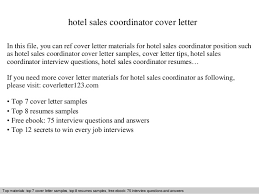 hotel sales coordinator cover letter In this file  you can ref cover letter materials for     SlideShare