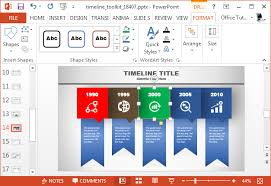 animated timeline maker template for powerpointchange timeline colors