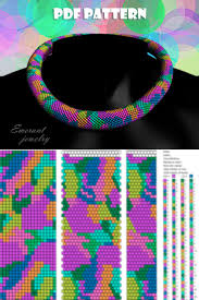 Bead crochet rope patterns, <b>seed bead necklace</b> pattern pdf ...