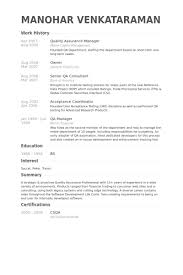 Manager Resume Samples Test Manager Resume Samples Performance