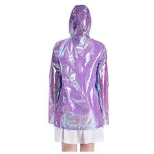 Wholesales fashion design <b>metallic</b> women <b>holographic</b> rain coat ...