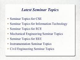 Term Paper Topics Related To Electronics  amp  Communication   White     SlideShare