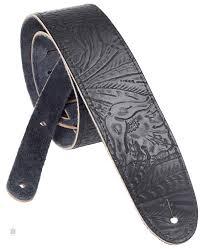 PERRI'S LEATHERS 570 Embossed <b>Leather Western</b> Flower <b>Black</b> ...