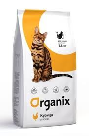 <b>Organix</b> (сухие корма) для <b>кошек</b>, с курочкой, <b>Adult Cat</b> Chicken
