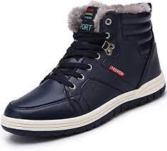 Oumanke Men Winter Snow Boots Waterproof ... - Amazon.com