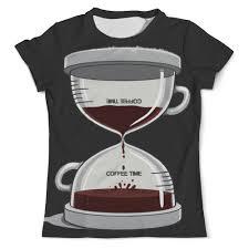 <b>Футболка</b> с полной запечаткой (мужская) <b>COFFEE</b> TIME / Время ...