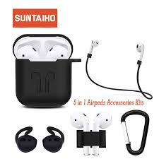 <b>Suntaiho</b> 5 in1 for Airpods <b>Case</b> Soft TPU Silicone Protector <b>Case</b> ...