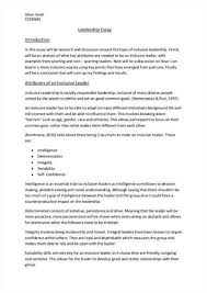 leadership essay conclusion ÂÂ  amanda jimenocharacteristics of a good leader leadership essay