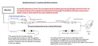 basic rca reversing camera wiring diagram