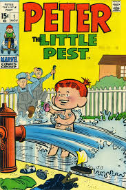 BLOG TO COMM 10 01 2014 11 01 2014 Thats undoubtedly why I really got a huge sickoid laugh outta the entire 1969 70 run of Marvels PETER THE LITTLE PEST comics that I scarfed up a good five.