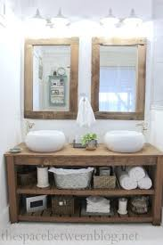rustic bathroom vanity and mirrors so many great details that feel like fall photos bathroom vanity