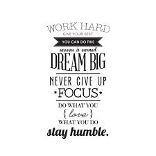 WORK HARD <b>DREAM BIG Quote Wall</b> Sticker Office Inspirational ...