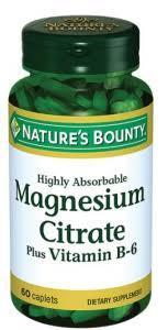 <b>Цитрат магния</b> с витамином B6, 60 таблеток, <b>Nature's Bounty</b> ...