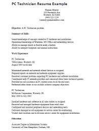 pc technician resume example   job hunter databasepc technician resume example