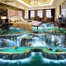 <b>beibehang Custom Photo Wallpaper</b> Floor Painting Waterfall River ...