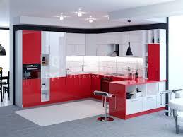 "Недорогая <b>кухня</b> в стиле хай-тек ""Альта"" из пластика красного ..."
