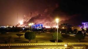 Drone attacks cause fires and explosions at Saudi oil refineries ...