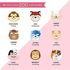 masque <b>BAR 9 Piece</b> Pretty Animalz Face M- Buy Online in ...