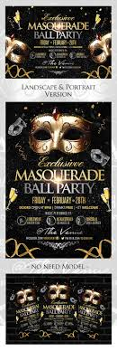 exclusive masquerade ball party flyers template on behance