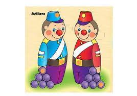 Купить Солдатики-головоломка в деревянной рамке(<b>RNToys</b> ...