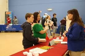 youth local employers partner during job fair shandi dix pase kyle doughall