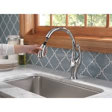 Delta Touch Kitchen Faucet Delta Addison Single Handle Pull Down Standard Kitchen Faucet