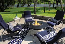 elegant patio furniture. elegant patio furniture set with table enhanced by fire pit and small for bottle l