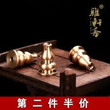 Pure <b>copper gourd</b> incense stick <b>incense holder</b> incense box ...