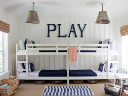 stylish white blue kids bedroom interior design ideas with bunk beds also stripes rug above wooden bedroom furniture interior designs pictures