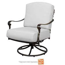 comfortable patio chairs aluminum chair: edington patio swivel rocker lounge chair with cushion insert slipcovers sold separately