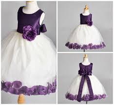 Details about Fall <b>Wedding</b> Rose Petal Birthday Flower <b>Girl Dress</b> ...