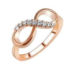 yingyue Luxury 8 Infinity Zircon Inlaid <b>Engagement Wedding Ring</b> ...