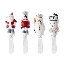 household dining table set christmas snowman knife: amazoncom pfaltzgraff winterberry spreaders set of  tableware kitchen amp dining