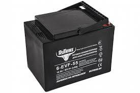 Каталог <b>Тяговый гелевый аккумулятор RuTrike</b> 6-EVF-55 (12V55A ...