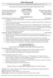 security director resume security director resume sample security director resume