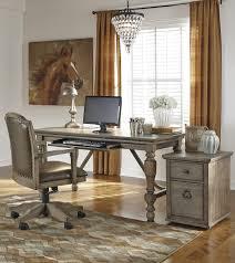 gray brown finish home office swivel desk chair brown finish home office