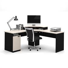 bestar hampton corner computer desk in sand granite charcoal bestar embassy corner desk