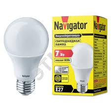 <b>Лампа светодиодная LED 7вт</b> Е27 белая (94386 NLL-A55 ...