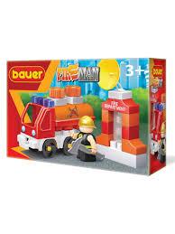 "<b>Конструктор Бауер</b> ""<b>Fireman</b>"" набор <b>пожарная</b> машина с цистерной"