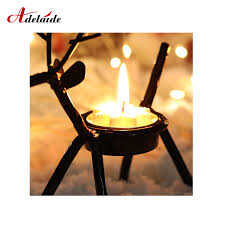 2019 Christmas Candle Holders Creative <b>European Iron Art</b> Deer ...