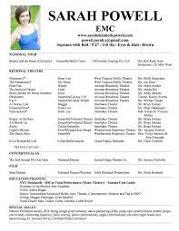 musical theatre resume template info rupert grint actor resume technical theatre resume template