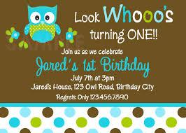 printable 1st birthday invitations boys owl party girls printable birthday invites