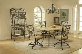 Round Back Dining Room Chairs Dining Room Sets With Brookside Oval Back Caster Dining Chair Also
