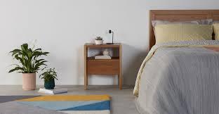 Ledger <b>bedside table</b>, dark stain ash | MADE.com