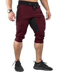 FASKUNOIE Men's Cotton Casual <b>shorts</b> 3/4 Jogger Capri Pants ...